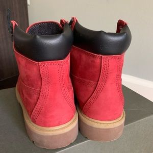 Timberland Shoes - Red Junior's Timberland Boots